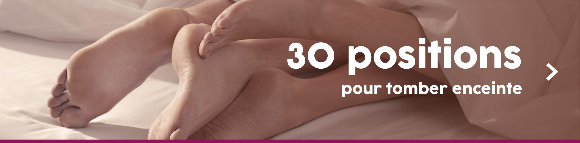 30 positions pour tomber enceinte